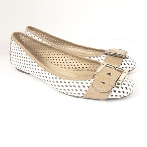 French Sole FS/NY Waffle Ballet Leather Flat